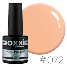 Гель-лак Oxxi Professional №072 (світлий персиковий, емаль), 10мл