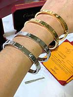 Элегантный браслет Cartier Love серебро (реплика)