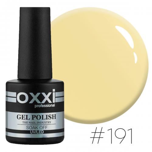 Гель-лак Oxxi Professional №191 (бледный желтый, эмаль), 10мл