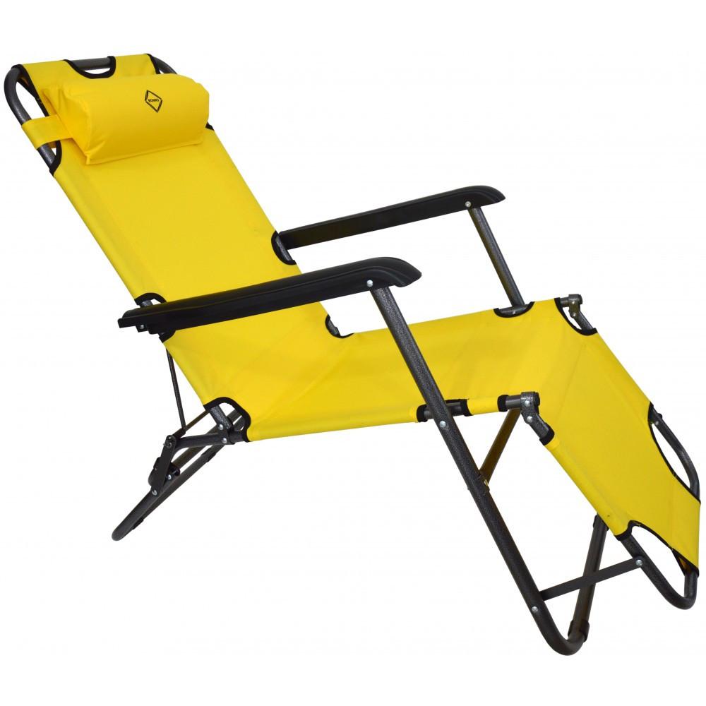 Шезлонг лежак Bonro 178 см желтый