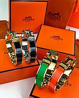 Модный женский браслет Hermes Narrow зеленый (реплика)