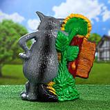 Садовый декор «Волк с подсолнечником» (46 см, керамика), фото 3