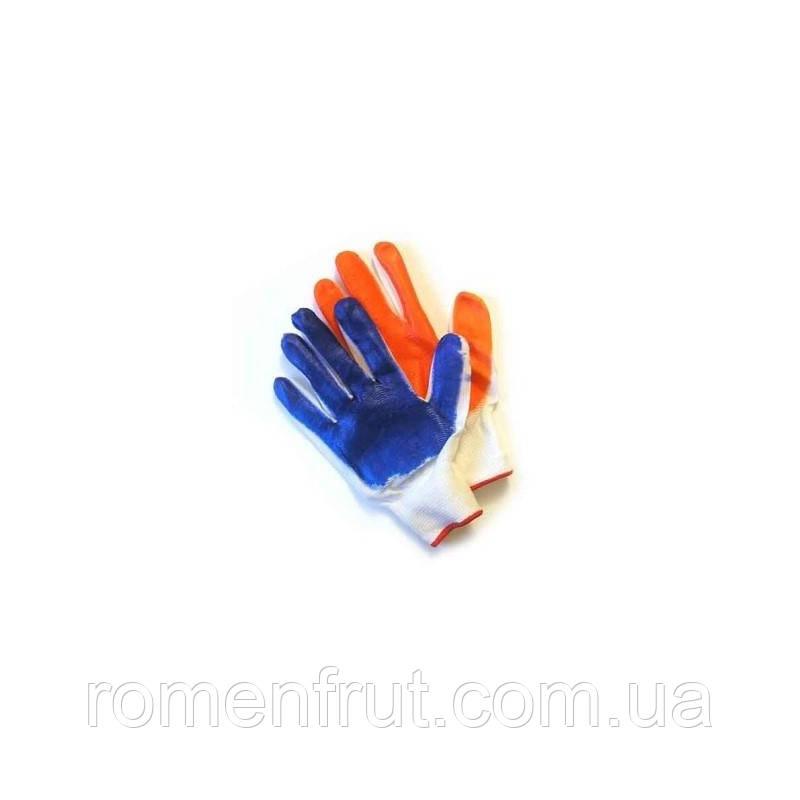 Перчатки рабочие стрейчевые синие