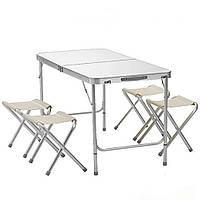Стол раскладной + 4 стула Folding table (NO.3) Светлое дерево