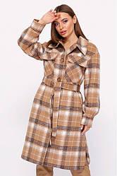 Пальто-рубашка женское демисезонное шерстяное, Эван | 42, 44, 46, 48 размеры