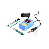 Паяльный набор Zhongdi ZD-9830C, паяльная станция ZD-98, оловоотсос, припой, жала