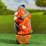 Садовий декор Вовк та Пес на брівні 24 см кераміка, фото 2