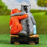 Садовий декор Вовк та Пес на брівні 24 см кераміка, фото 3