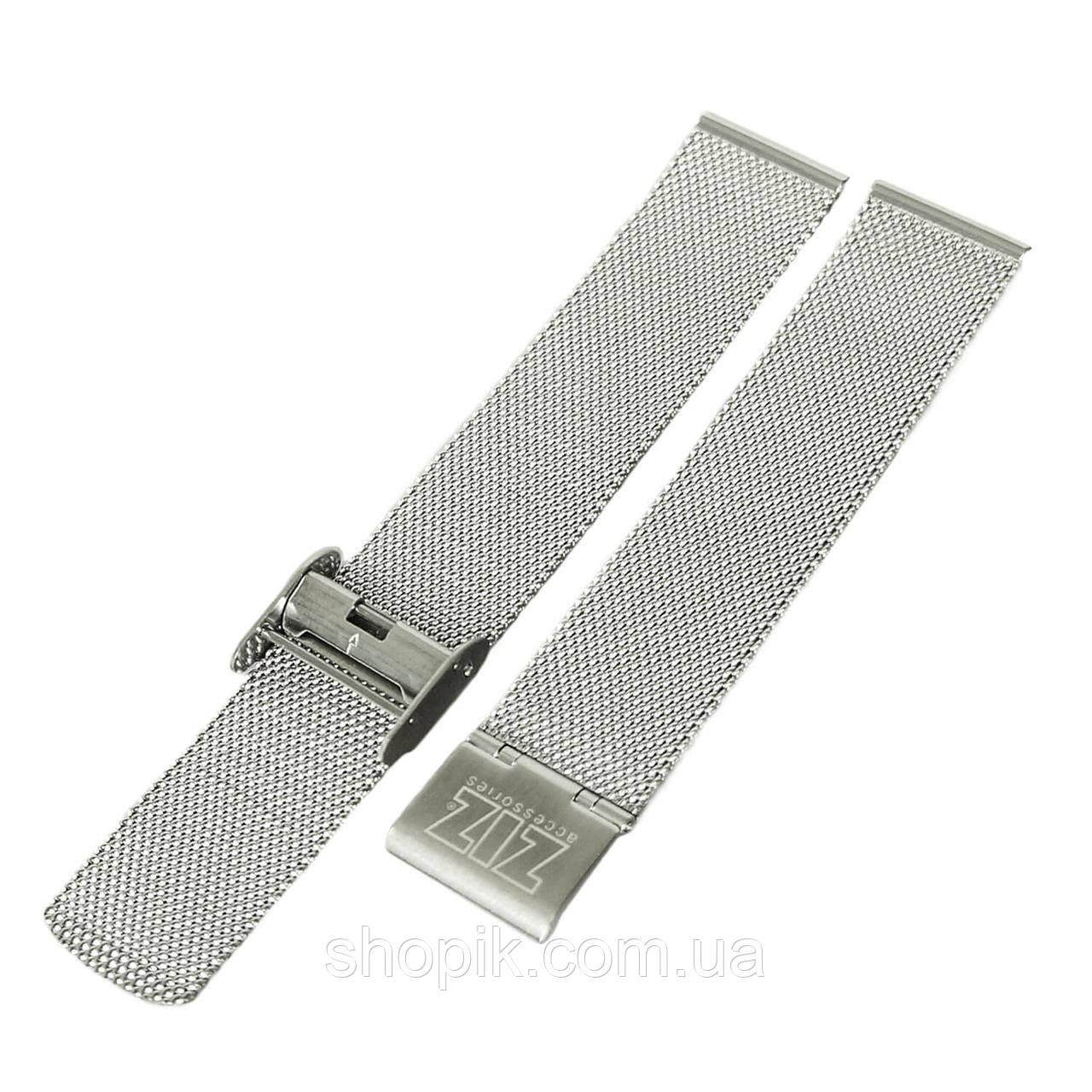Ремешок для часов ZIZ из нержавеющей стали (серебро) SHOPIK