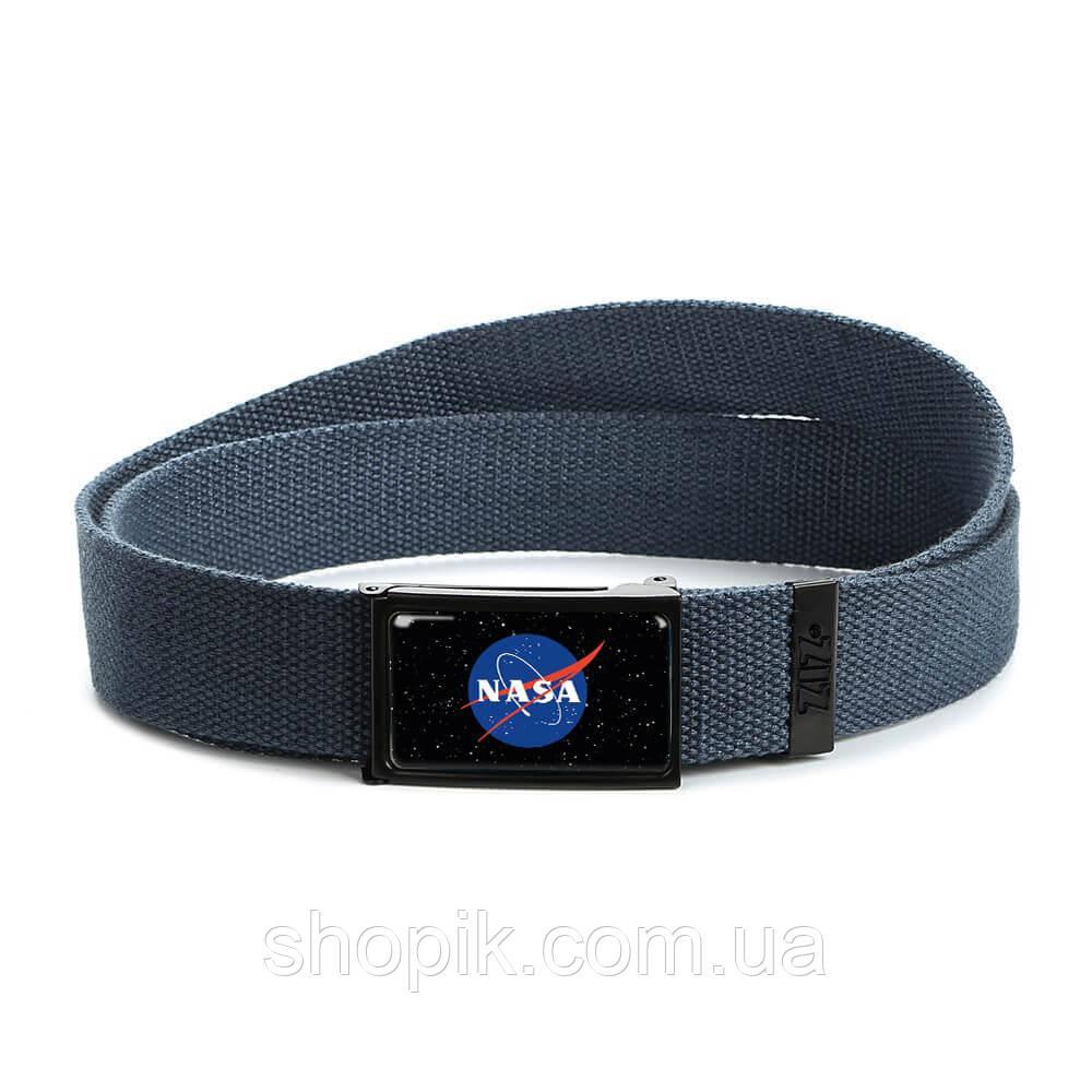 Ремень ZIZ НАСА синий SHOPIK