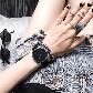 Часы ZIZ Минимализм черный (ремешок из нержавеющей стали черный) + дополнительный ремешок SHOPIK, фото 3