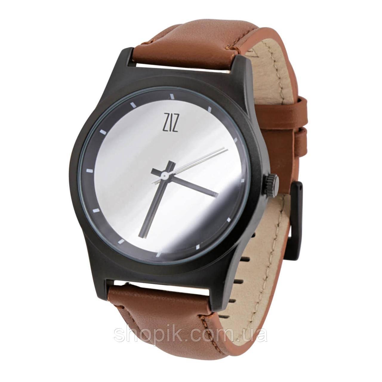 Часы ZIZ Mirror на кожаном ремешке + доп. ремешок + подарочная коробка (4100343) SHOPIK