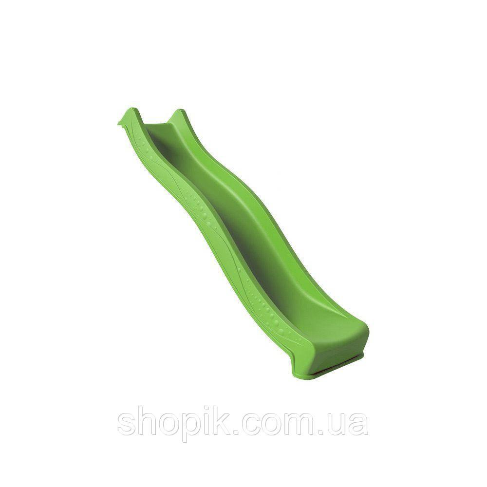 Дитяча гірка пластикова 2.2 м Салатова SHOPIK
