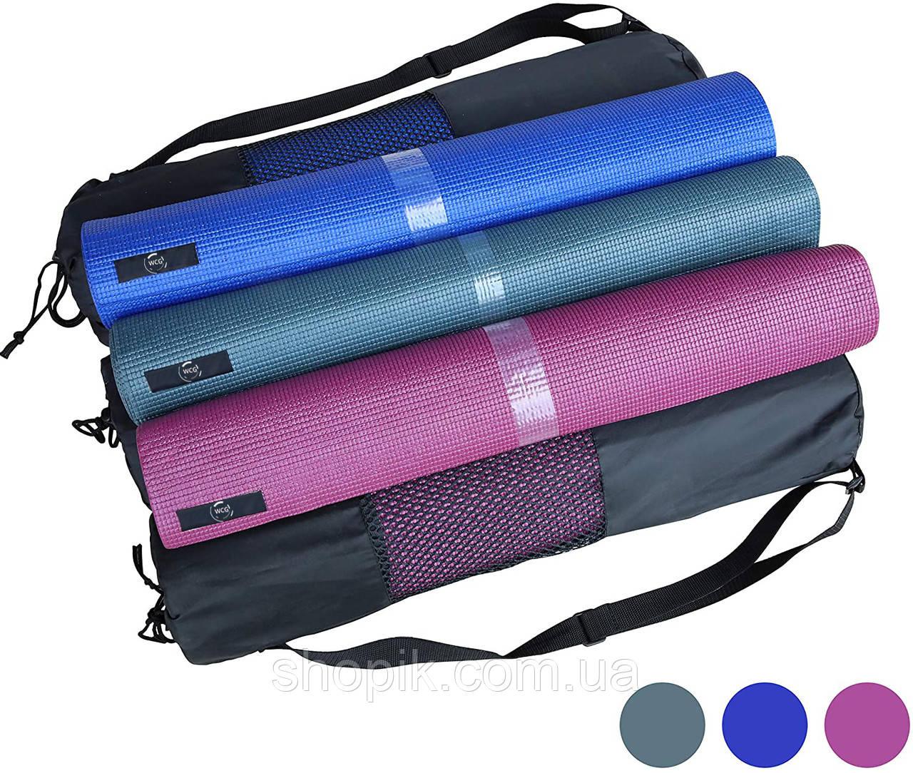 Коврик для йоги и фитнеса (йога мат)  WCG M6 Фиолетовый SHOPIK