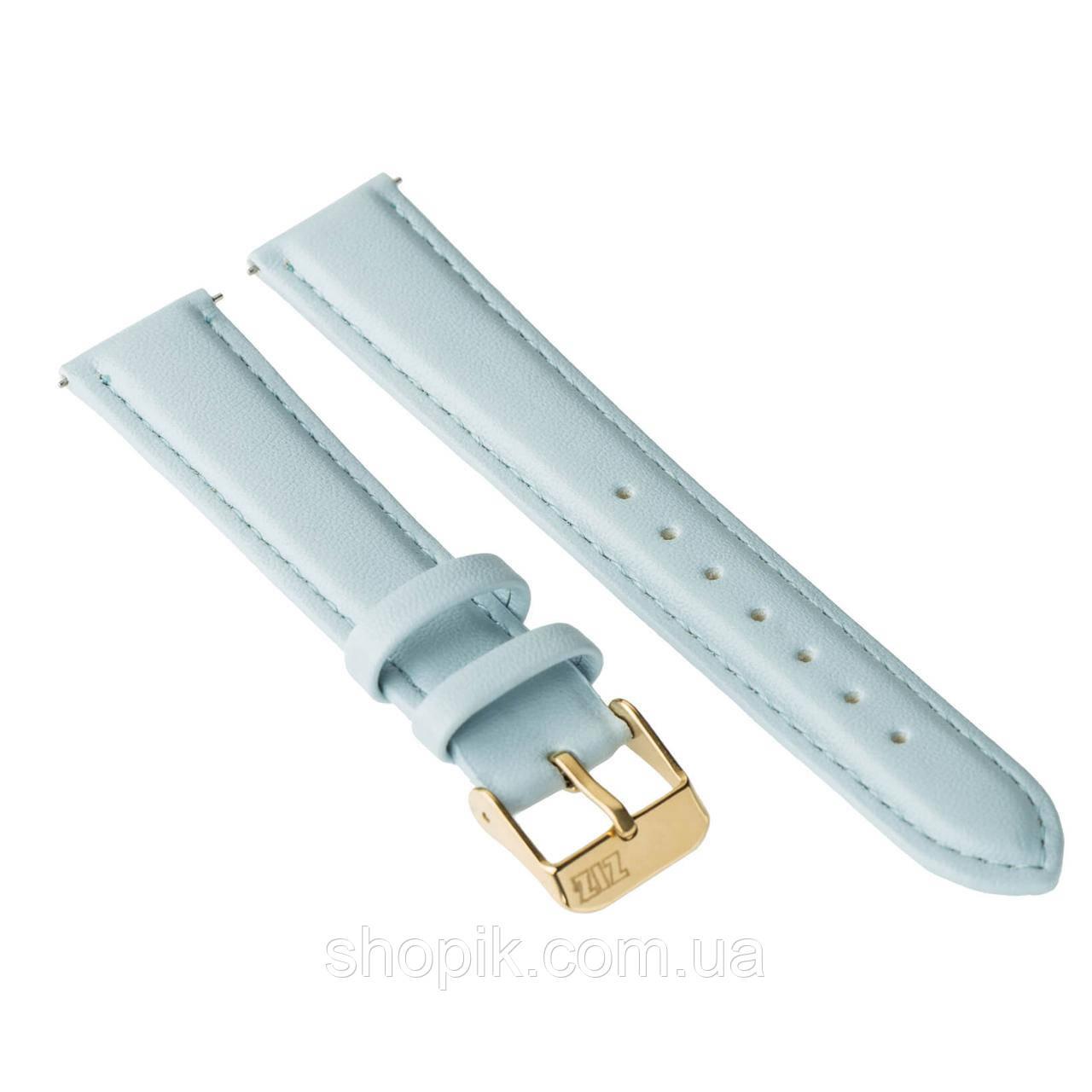 Ремінець для годинника ZIZ (ніжно - блакитний, золото) SHOPIK