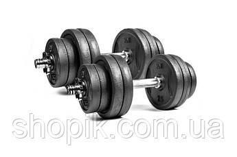 Гантелі розбірні RN-Sport 2 по 16 кг металеві, чавунні, Гантелі металеві 2 шт. по 16 кг SHOPIK