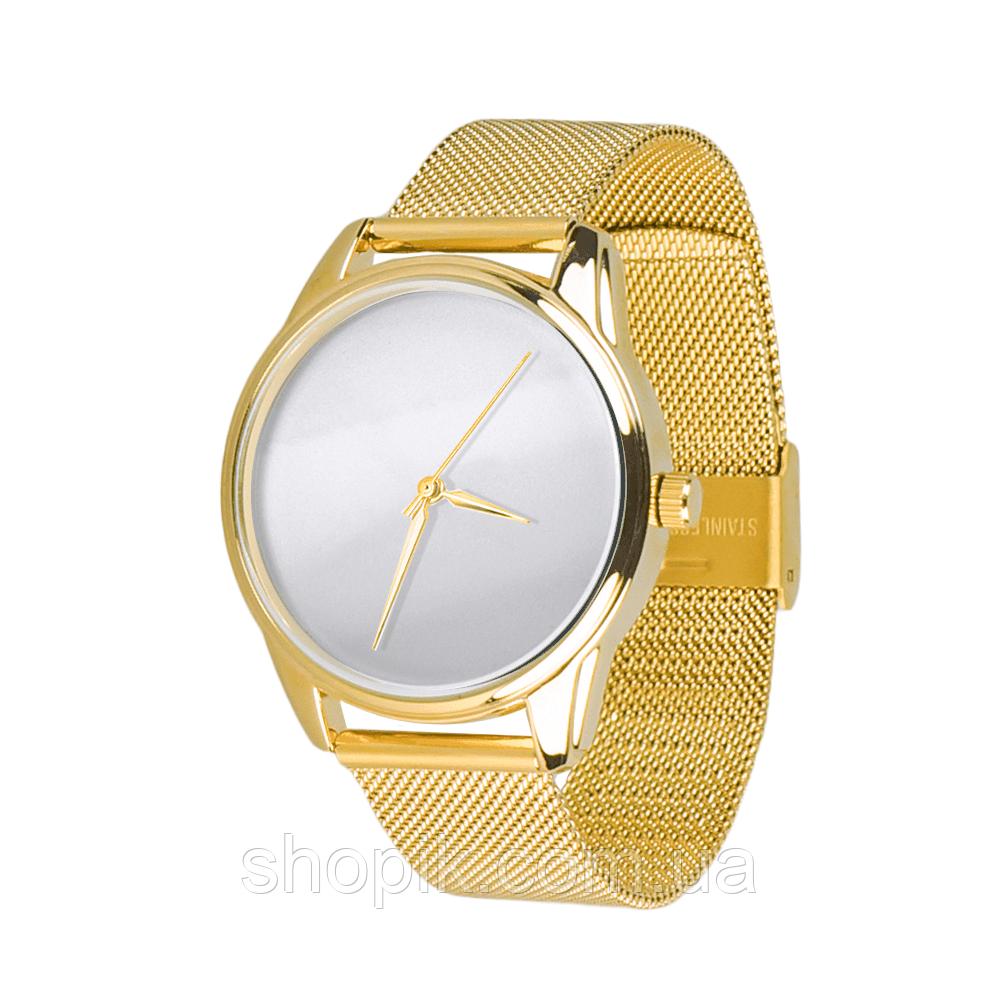 Годинник ZIZ Мінімалізм (ремінець з нержавіючої сталі золото) + додатковий ремінець SHOPIK