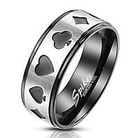 """Кольцо стальное """"Покер"""" от Spikes R-M6823, 19.0, 20.0, 20.5, 21.5"""
