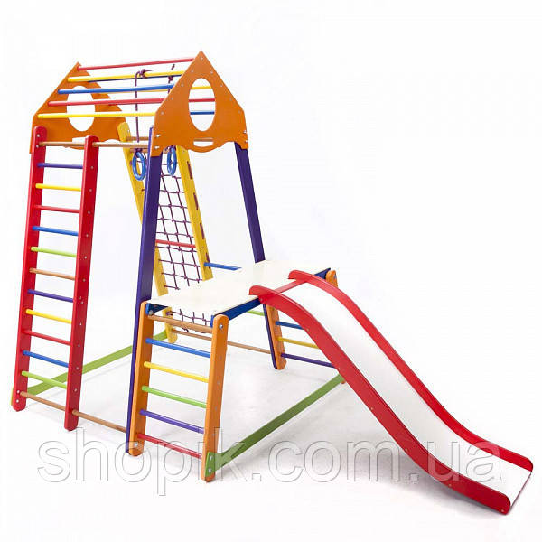 Дитячий спортивний комплекс BambinoWood Color Plus 1-1 SportBaby SHOPIK