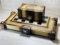 Шахи ручної роботи зі скринькою під фігурки (65х65 див.)