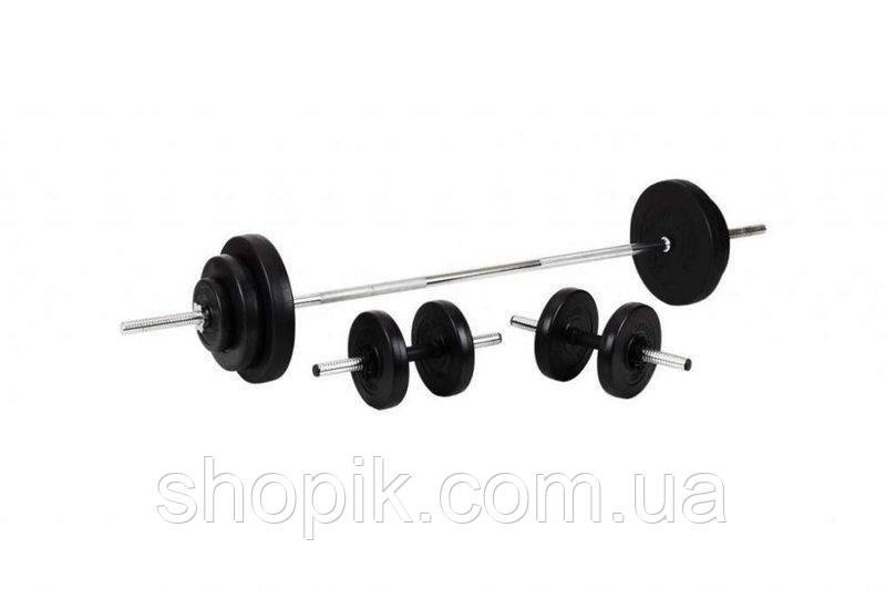 Штанга + Гантелі Набір 40 кг SHOPIK