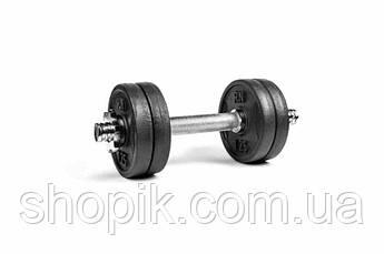 Гантель розбірна чавунна RN-Sport 6 кг., Гантеля металева 6 кг. Гантель складальна 6 кг чавунна SHOPIK