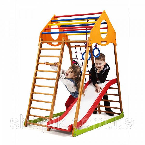 Дитячий спортивний комплекс для будинку KindWood Plus 1 SportBaby SHOPIK