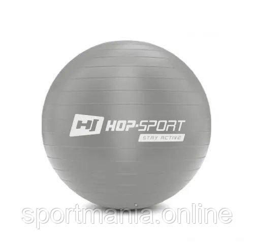 HS-R045YB Фитбол 45 см Серебристый + насос