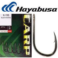Крючки усиленные Hayabusa K-1 № 8 XS BNickel (Черный Никель)