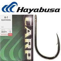 Крючок Hayabusa K-1 Black Nickel №6 (10шт) (Черный Никель)