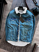Мужская джинсовка с мехом