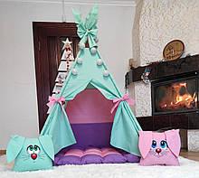 Вигвам Цветные Зайки БОНБОН Полный комплект! Детский вигвам, вигвам детский, детский домик, вигвам палатка