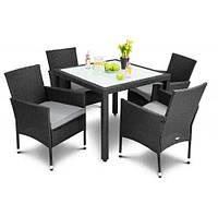 Садовая мебель VERONA 4+1 Черный