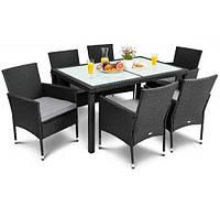 Садовая мебель VERONA 6+1 Черный