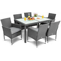 Садовая мебель VERONA 6+1 Серый