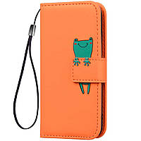 Чехол-книжка Animal Wallet для Samsung Galaxy S7 Edge Frog