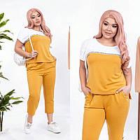 Прогулочный костюм женский (футболка капри) до 58 размера