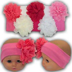 Детская повязка для девочки с цветком, 40-48