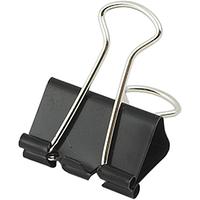 Биндеры (зажимы для бумаги) 15 мм 12 шт. Buromax BM.5306 чорний