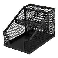 Подставка-органайзер 100 * 143 * 100 мм металлическая 2118-01-A черный