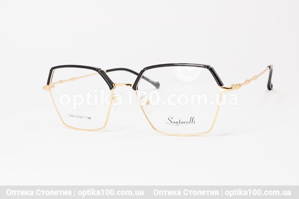 Жіноча оправа для окулярів. Santarelli 2653. Чорно-золотава