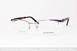 Металева полуободковая оправа для окулярів жіноча. Tommy Fashion 8007