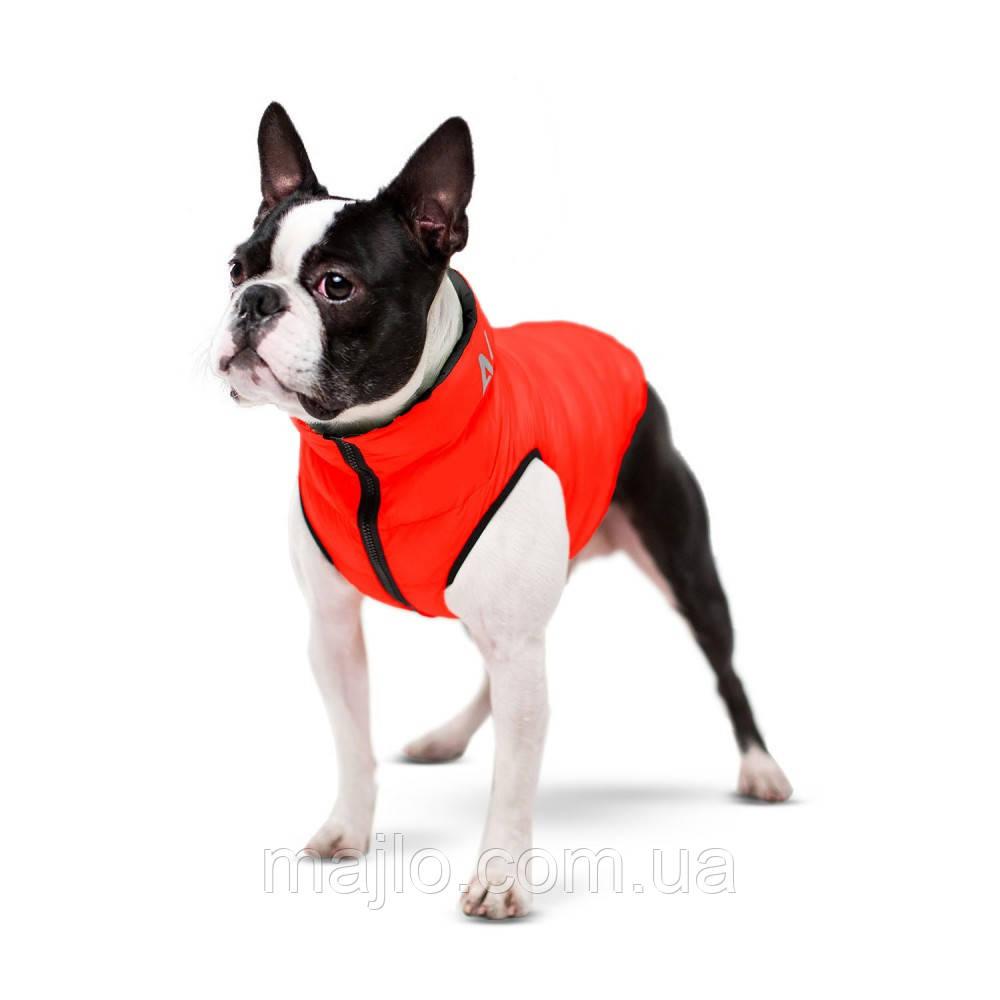 AiryVest Двостороння курточка для маленьких собак XS 25 червоно-чорна 1569