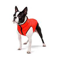 AiryVest Двостороння курточка для маленьких собак XS 25 червоно-чорна 1569, фото 1