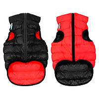 AiryVest Двусторонняя курточка для  маленьких собак XS 22 красно-чорная 1700