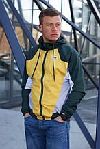 Ветровка-виндраннер Nike Heritage Windrunner (Жёлто-зелёный)
