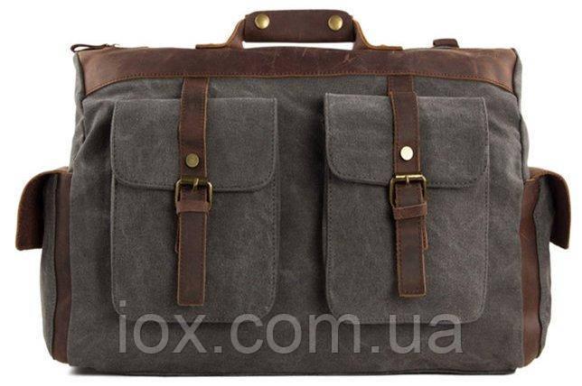Сумка текстильная Vintage 20066 Серая