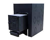 Печь банная ComfortProm ЧУГУН СТАТУС, для парной до 26 кубов, вес 90 кг, длина дров до 50 см, на 160 кг