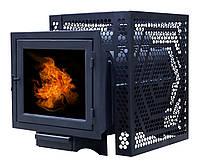 Печь банная ComfortProm ЧУГУН ПАНОРАМА СТАНДАРТ, для парной до 20 кубов, вес 75.5 кг, длина дров до 40 см, на