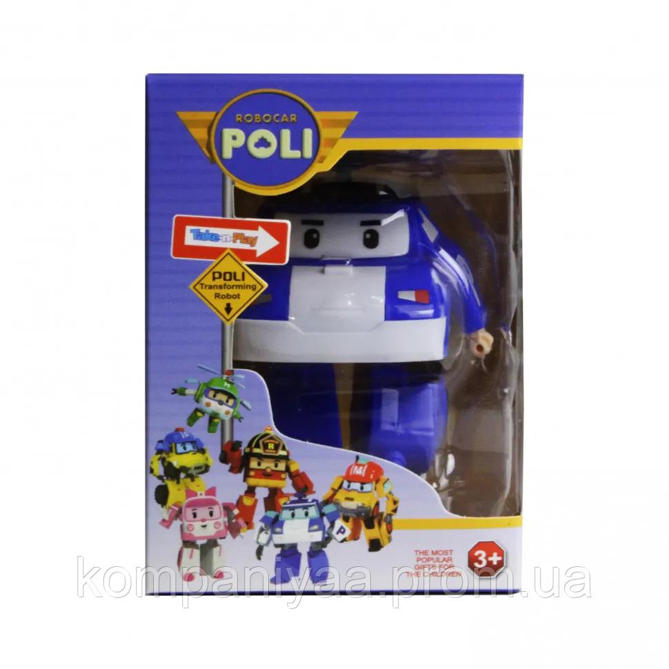Трансформер 83168 Робокар Полли ( 83168(Blue) RP, робот+машинка, 11см, в кор-ке, 10-14,5-10см)